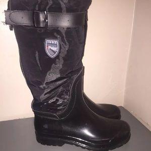 Pajar Rosemount black tall rain boots Sz 39 / 8